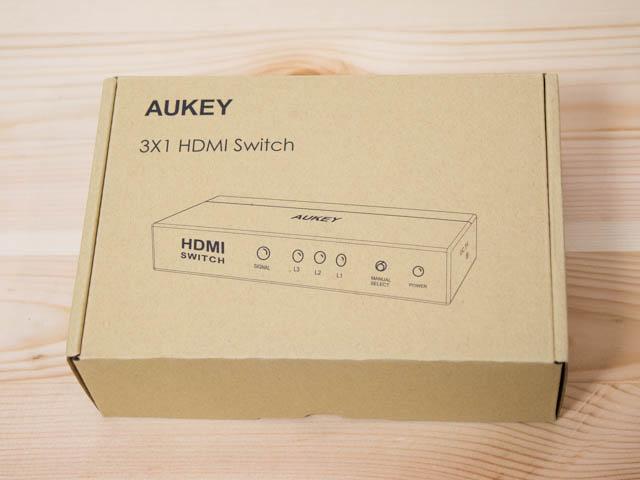 AUKEY HDMI切替機 パッケージ