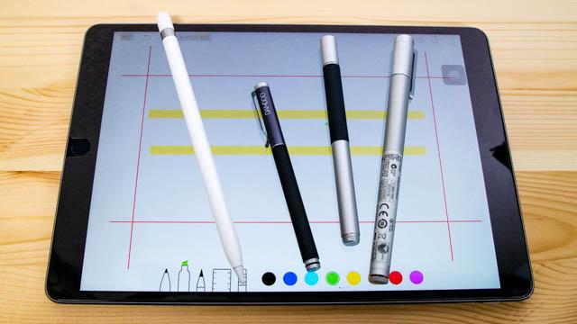 いろいろなスタイラスペンとApple Pencilの書き味を比べてみた