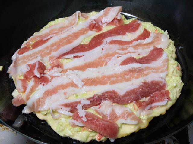業務スーパー 豚バラスライス お好み焼き調理