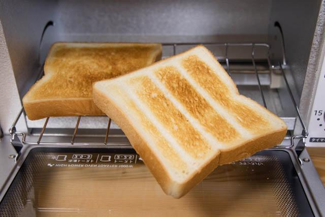 オーブントースター 調理完了 裏面