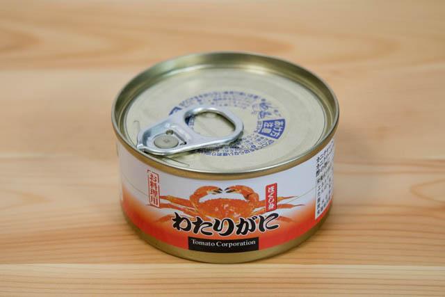 ダイソー カニ缶 パッケージ