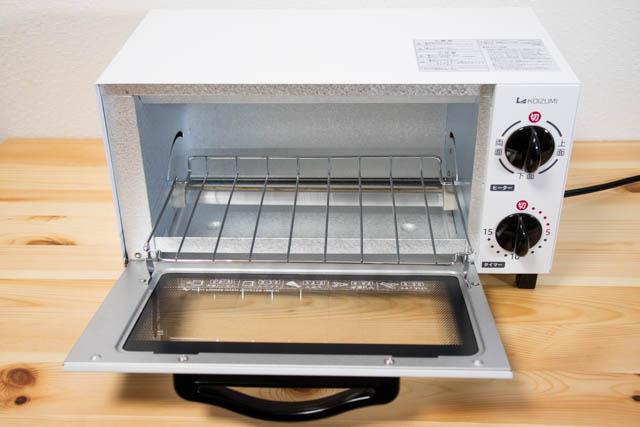 オーブントースター 本体 ドア開け