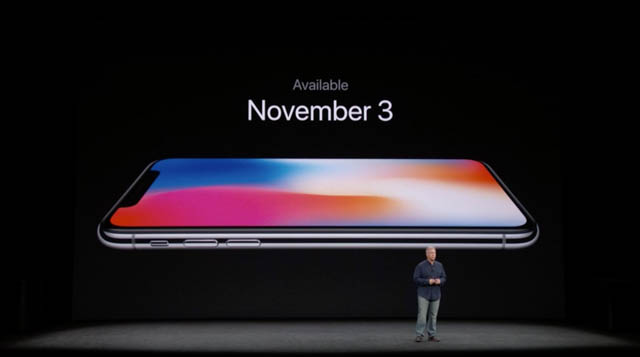 AppleSpecialEvent201709 iPhoneX発売日