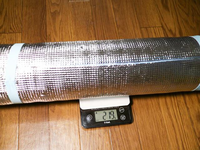寝袋マット 銀マット 重量