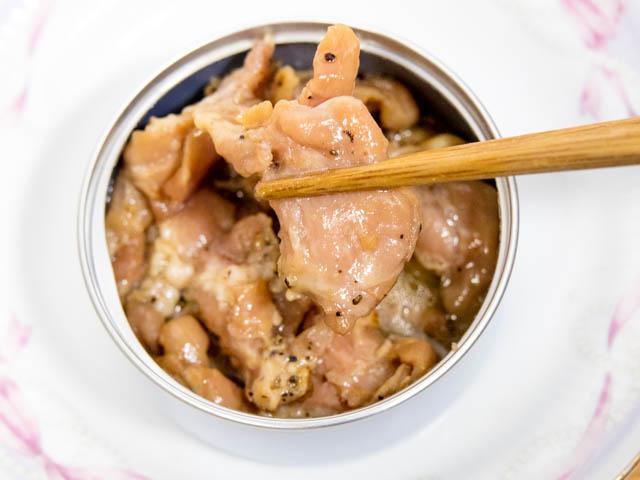 缶つま 鶏ハラミ実食