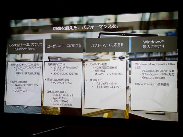 マイクロソフト 新製品Touch Tryイベント SurfaceBook2概要
