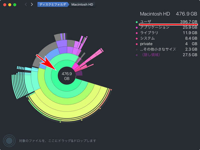 Mac空き容量を増やす DaisyDisk1
