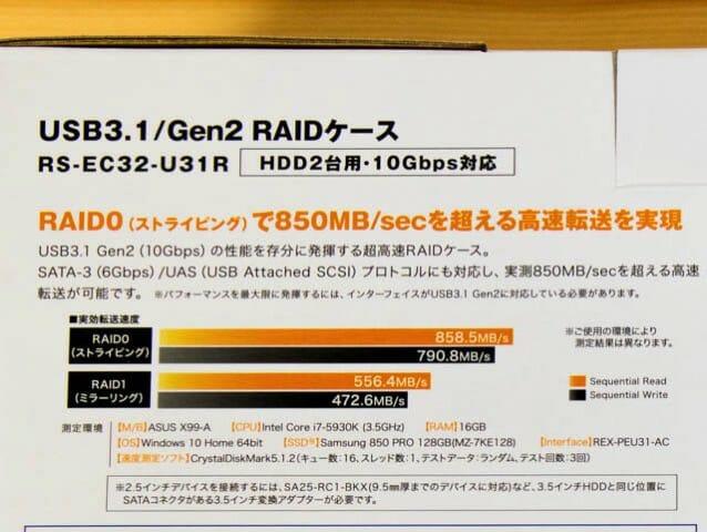 ラトックシステムRAIDケース USB3 1Gen2
