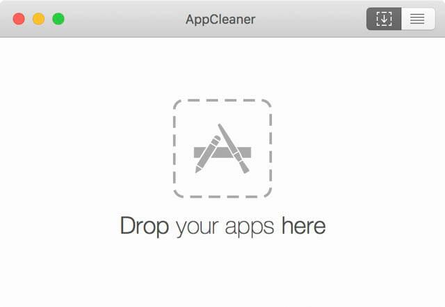 Mac空き容量を増やす AppCleaner Drop