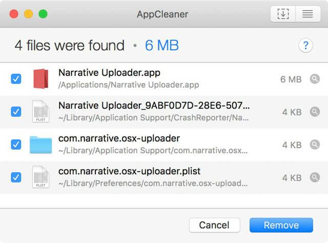 Mac空き容量を増やす AppCleaner Remove