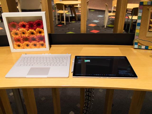 マイクロソフト 新製品Touch Tryイベント SurfaceBook2分離