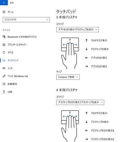 SurfacePro タイプカバータッチパッド設定