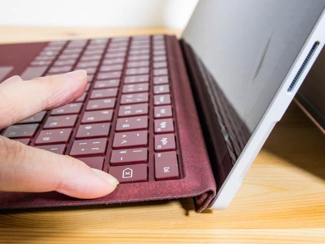 SurfacePro タイプカバー接続2たわみ