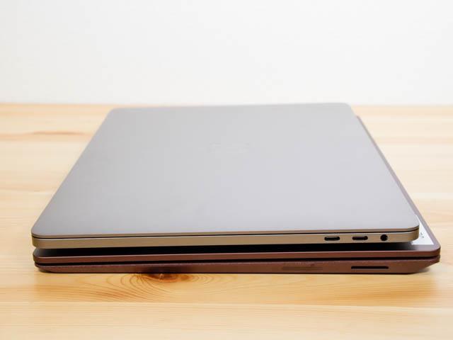 SurfaceLaptop MacBookPro比較厚み