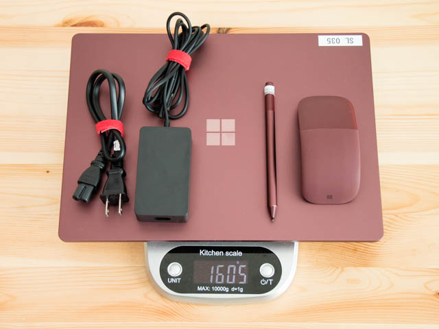 SurfaceLaptop 重量