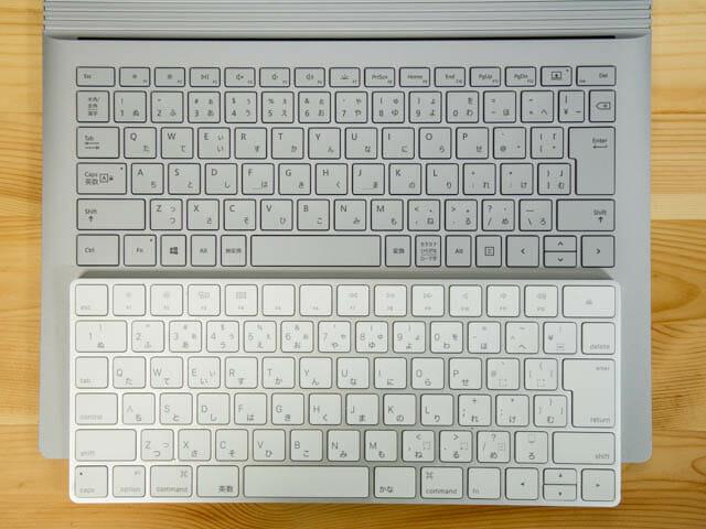 SurfaceBook2 キーボード比較