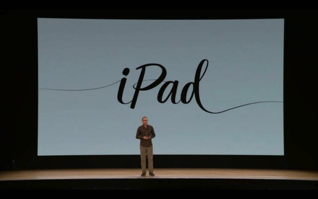 AppleSpecialEvent201803 iPad