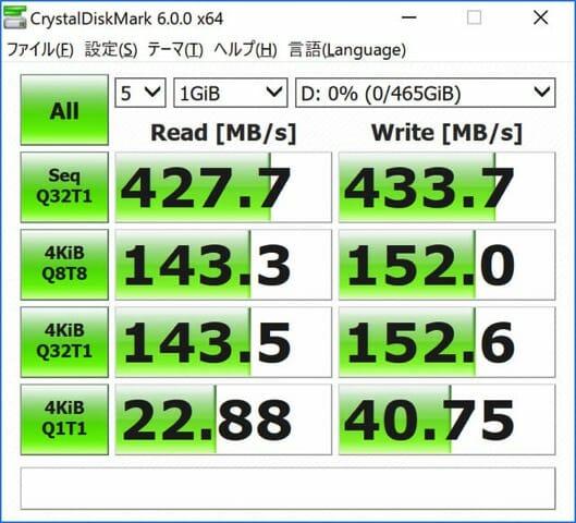 SurfaceBook2 外付SSDUSB A C速度