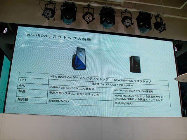 DELL新製品発表会201804 その他特徴
