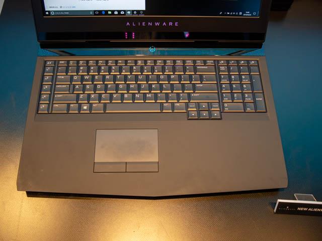 DELL新製品発表会201804 ALIENWARE17キーボード