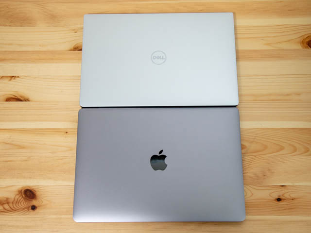DELL XPS13 MBP13比較 上面