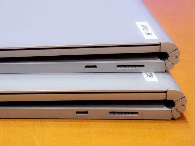 マイクロソフト イベント 201804 SurfaceBook2 13and15インチ 右側面