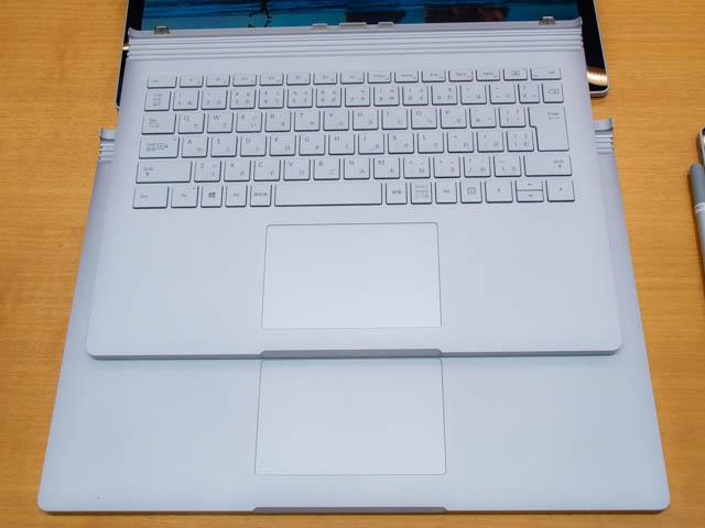 マイクロソフト イベント 201804 SurfaceBook2 13and15インチ トラックパッド