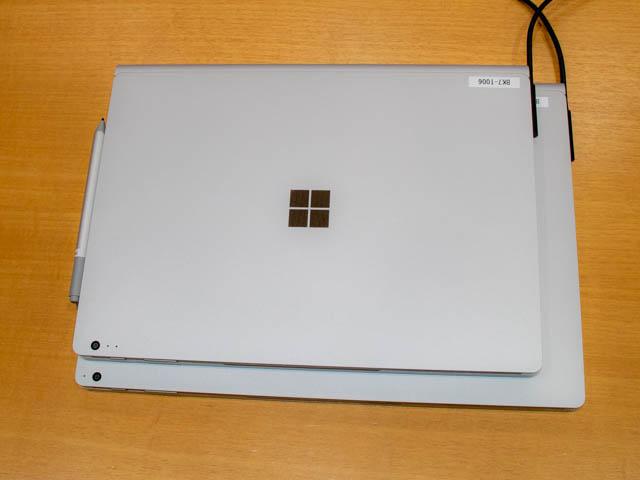 マイクロソフト イベント 201804 SurfaceBook2 13and15インチ 上面