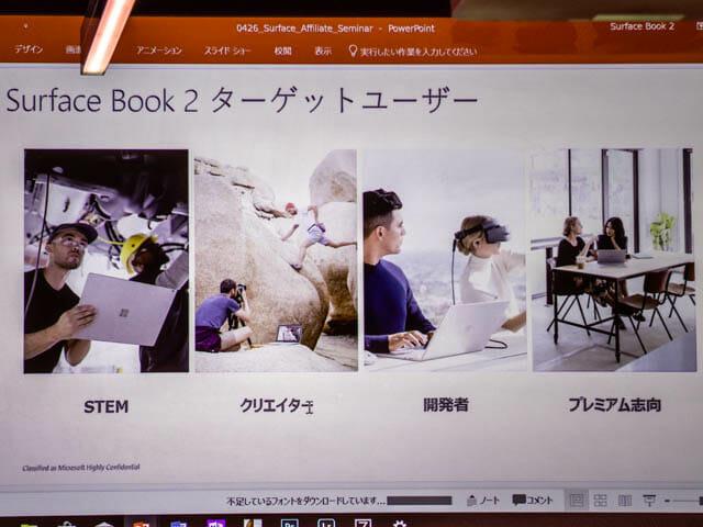 マイクロソフト イベント 201804 SurfaceBook2ターゲットユーザー