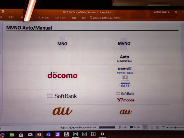 マイクロソフト イベント 201804 SurfaceProLTEAdvanced 3