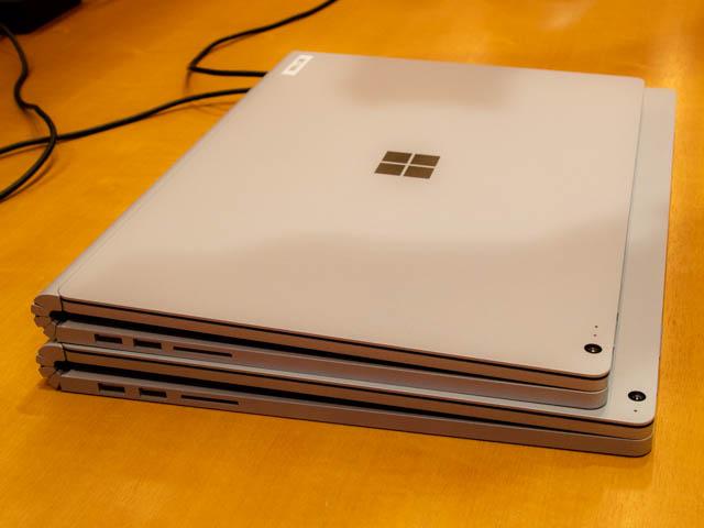 マイクロソフト イベント 201804 SurfaceBook2 13and15インチ 左側面