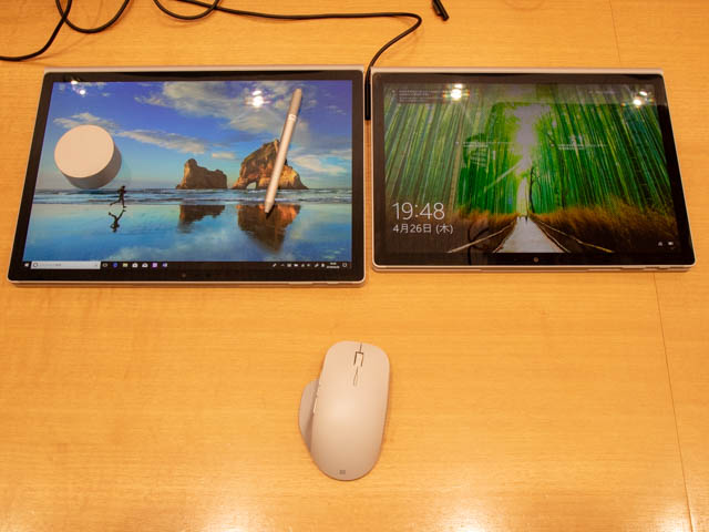 マイクロソフト イベント 201804 SurfaceBook2 13and15インチ スタジオモード横並び