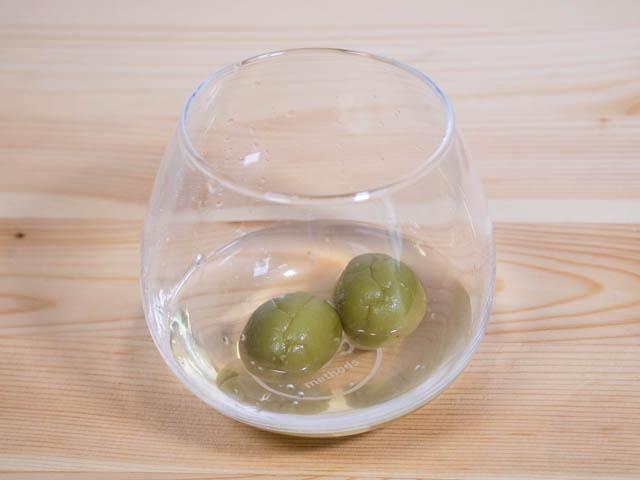 無印良品梅酒 1年目 梅の実