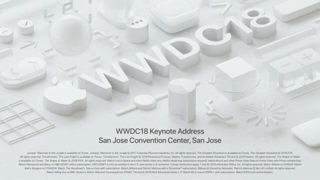 2018年6月 WWDC18 ハードウェアの発表はなく、OSのアップデートの話でした
