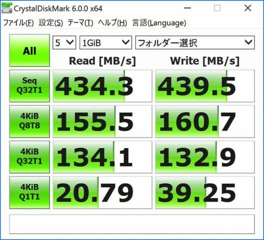 SurfaceBook2 15inch SSDベンチ 外部