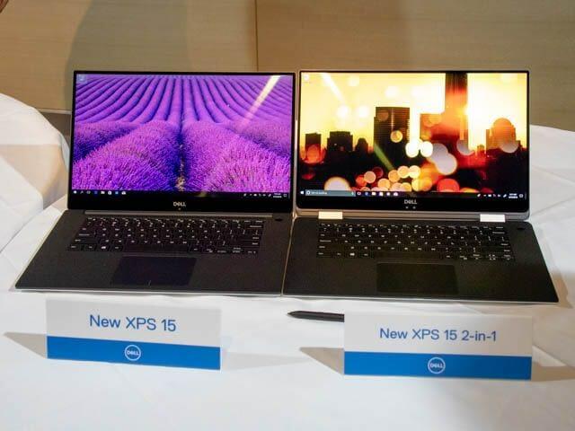 DELL Ambassador201806 XPS15 2in1 XPS15比較ラップトップモード
