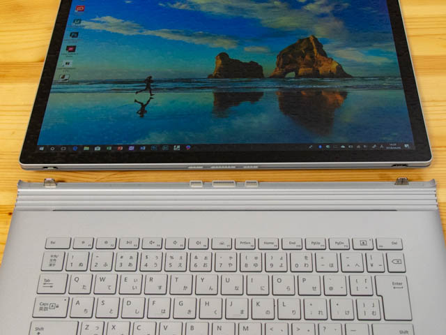 SurfaceBook2 15inch ディスプレイ取外し完了