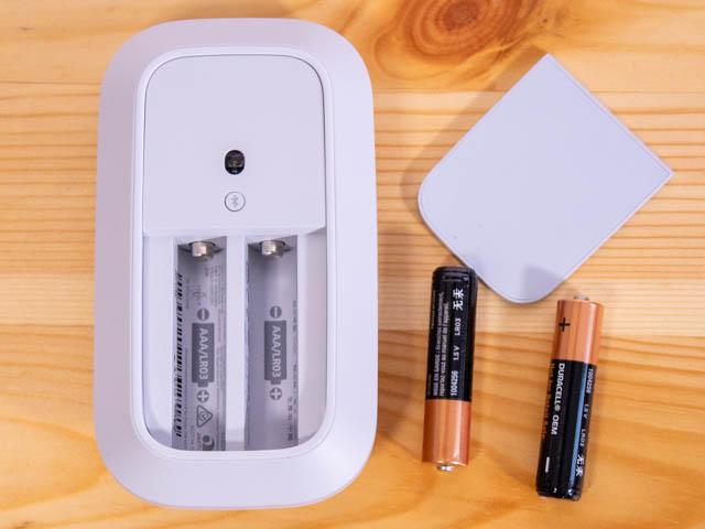モバイルマウス 底面電池格納部