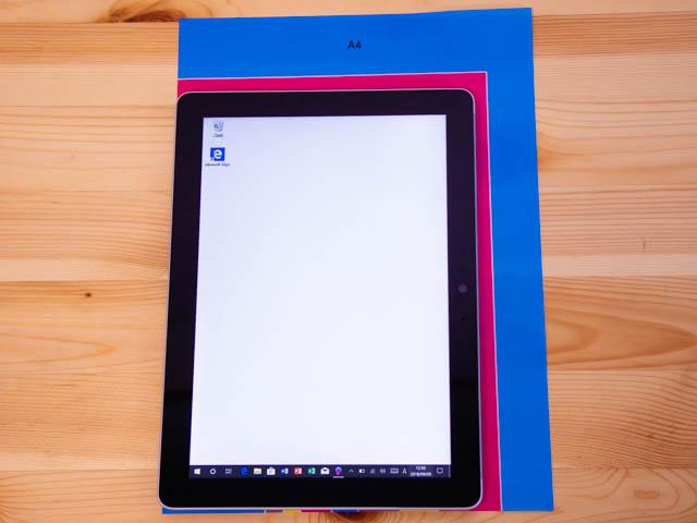 SurfaceGo 大きさ用紙サイズ比較