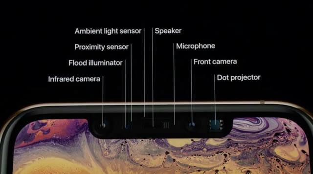 AppleSpecialEvent201809 iPhoneフロントカメラ