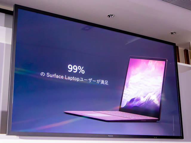 Microsoft Japan Surface Event SurfaceLaptopユーザー満足度