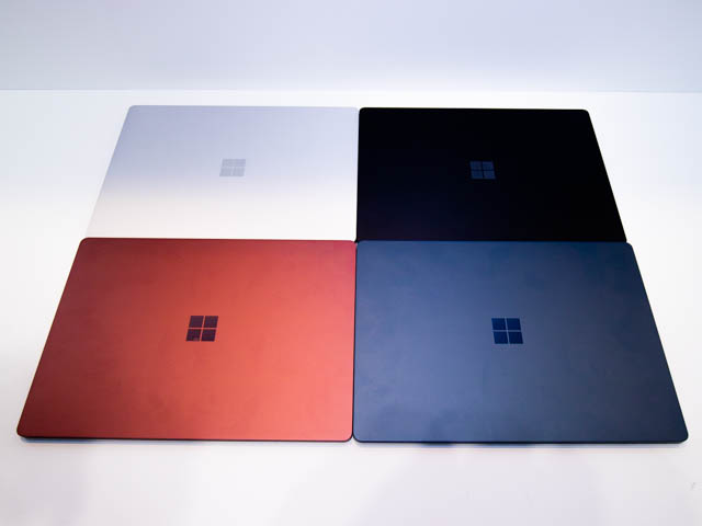 Microsoft Japan Surface Event SurfaceLaptop2カラバリ4色表面