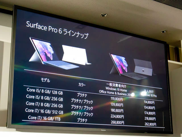 Microsoft Japan Surface Event SurfacePro6ラインナップ
