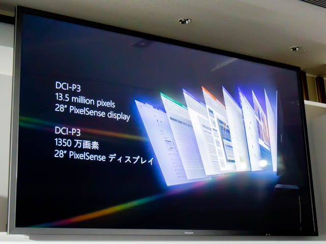 Microsoft Japan Surface Event SurfaceStudio2ディスプレイ