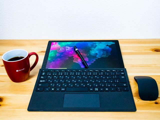 SurfacePro6 スタジオモード タイプカバー付き