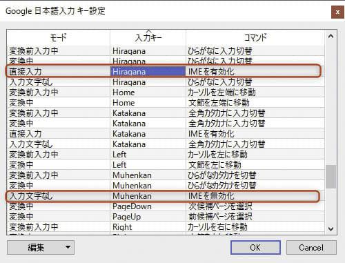 Mac-Winキー配列 Google日本語