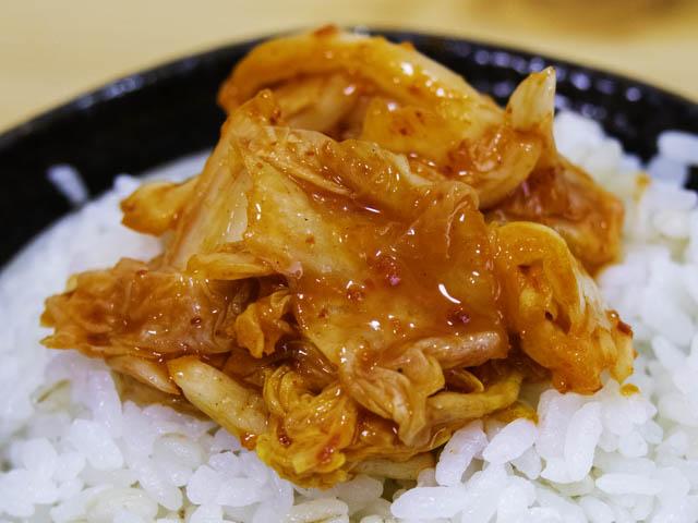 業務スーパー-白菜キムチ 実食-ごはん