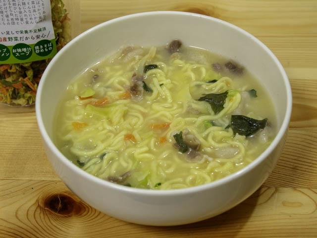 乾燥野菜 袋麺ちゃんぽん-実食