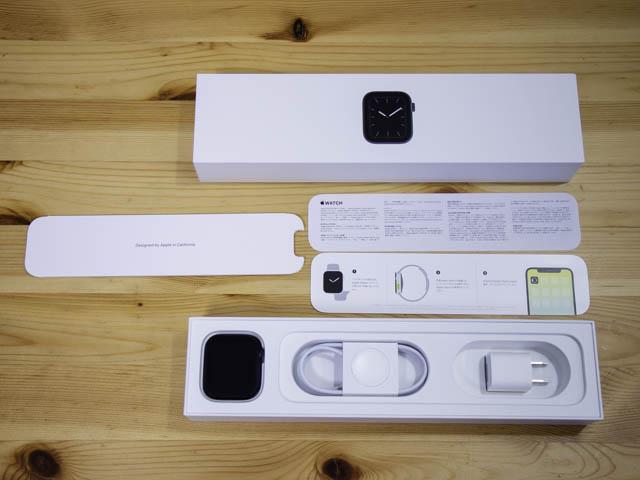 AppleWatchSeries5開封の儀 本体パッケージ中身