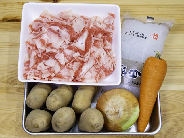 ショップジャパン-クッキングプロ 肉じゃが-材料